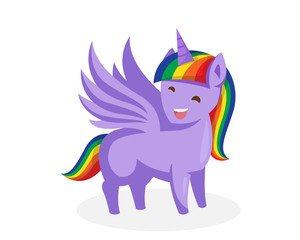 Cute Unicorn Pony Horse Illustration Character, Suitable for Children Product, Print, Game Asset, And Other Children Related Occasion