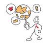 Creative Online E-commerce Business Stickman Illustration Concept - Global Range World Class Customer Support