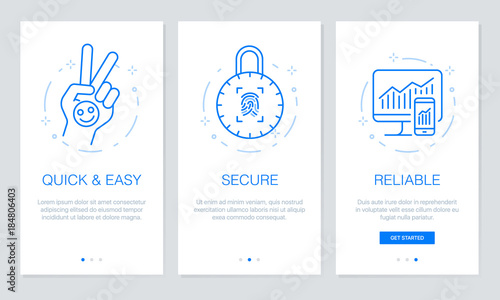 Onboarding app screens Modern and simplified vector illustration ...