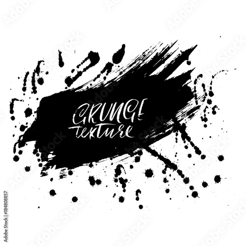 Foto op Aluminium Vlinders in Grunge Ink vector brush strokes. Vector illustration. Grunge hand drawn watercolor texture. Space for text.