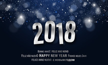 Happy New Year 2018 Greeting C...
