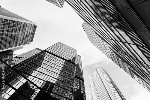 Obraz Urban skyline with skyscrapers. High-rise towers - fototapety do salonu