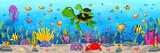Cartoon turtle underwater