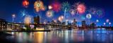Fototapeta Nowy York - Feuerwerk über New York City, USA