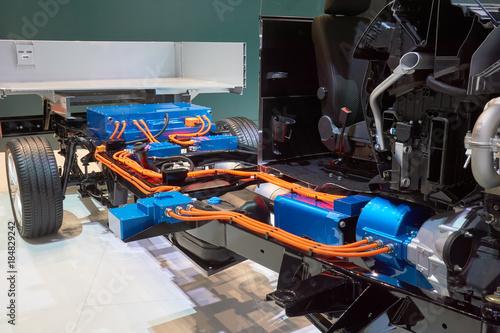 Foto  Schnitt des Hybrid-LKWs