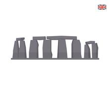Modern United Kingdom Famous Tourist Landmark Building Illustration - Stonehenge