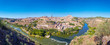 Panorama of Toledo, the ancient city in central Spain.
