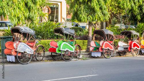 Bevak, rickshaw or pedicab in Indonesia