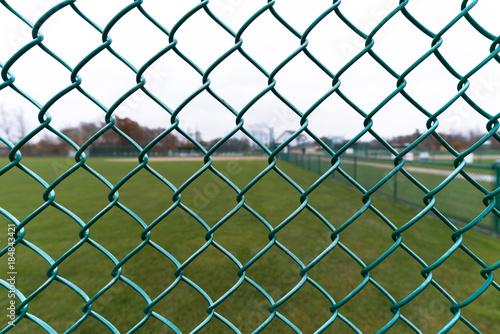 Fotografie, Obraz  Baseball Field Fence