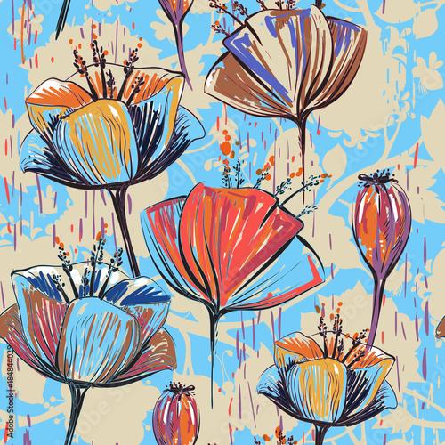 recznie-rysowane-dekoracyjne-tulipany-powtarzalny-wektor-wzor