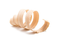 Wooden Shavings Isolated