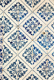 Amazing old ceramic wall for interior and exterior background. Lisbon, Portugal - 184847451