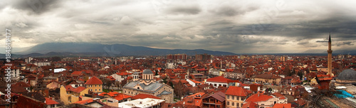 panorama from above on the city of Prizren - Kosovo, Balkans Wallpaper Mural