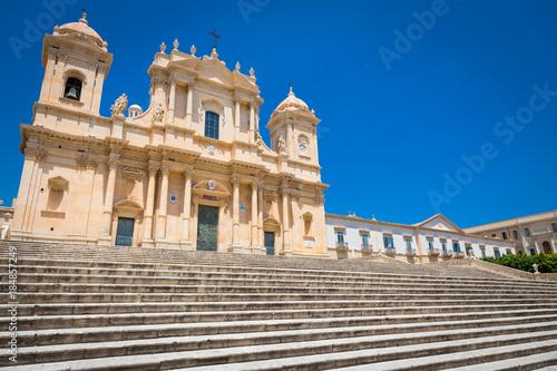 Fotografía  NOTO, ITALY - San Nicolò Cathedral, UNESCO Heritage Site