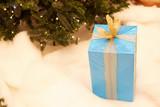 Fototapeta Do akwarium - Gift under the Christmas tree.