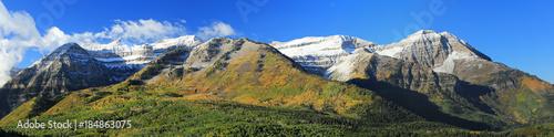 Fototapeta Autumn scene in the Wasatch Mountains, Utah, USA. obraz