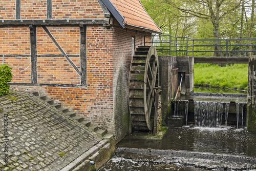 Poster Molens Historische Wassermühle von 1653