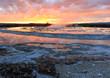 Yellowstone sunset, Wyoming, USA.