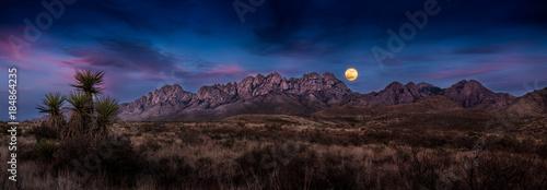 Super Moon Over the Organ Mountains Canvas Print