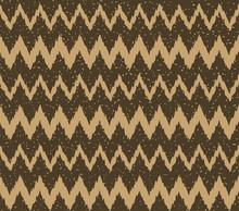 Seamless Kraft Paper Brown And Black Grunge Ikat Zigzag Tribal Pattern Vector