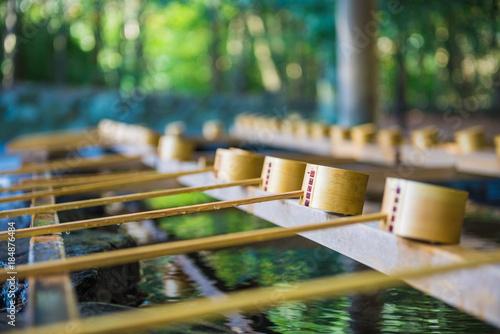 Fototapeta 日本 神社 手水舎