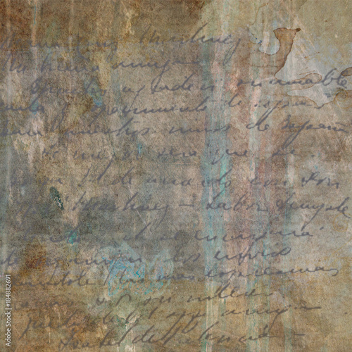 Fotoposter Oude vuile getextureerde muur Grunge Textured Paper / Background