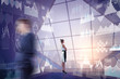 Futuristic innovation and analytics concept