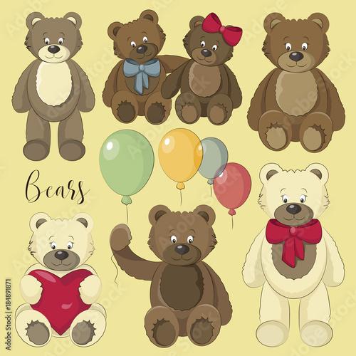 Vector Set of bear icon #184891871