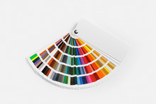 Color Palette On White Paper B...