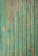 Old Green And Brown Wood With Peeling Paint And Natural Patterns Nice For Background