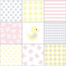 Seamless Pattern With Duck