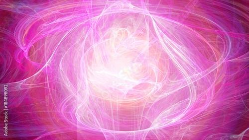 Fotobehang Fractal waves Mandala Fraktal abstrakt sphärisch bunt Kunst