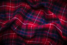 Close-up Background Of Plaid