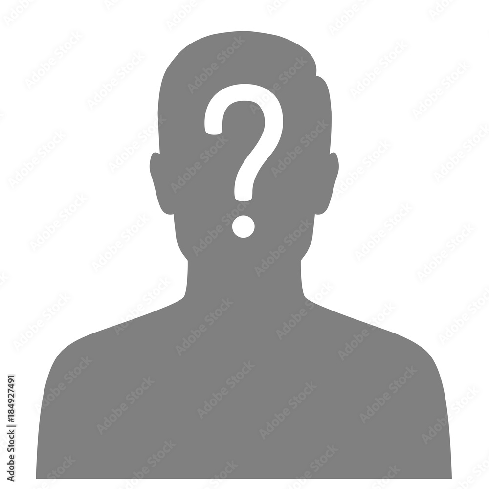 Fototapeta  vector illustration of a  missing person, graphic wanted poster, lost anonymous man