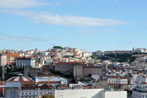 Tuinposter Athene Skyline Lisbon