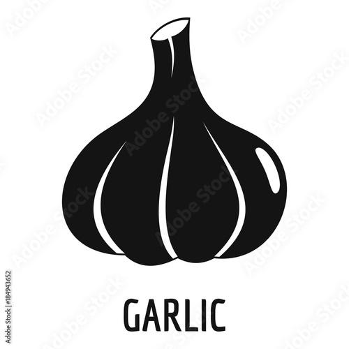 Fotomural Garlic icon. Simple illustration of garlic vector icon for web