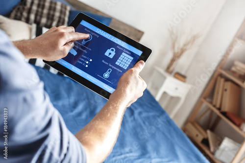 Fotografiet  Smart home control digital devices modern technology