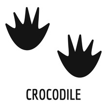 Crocodile Step Icon. Simple Il...