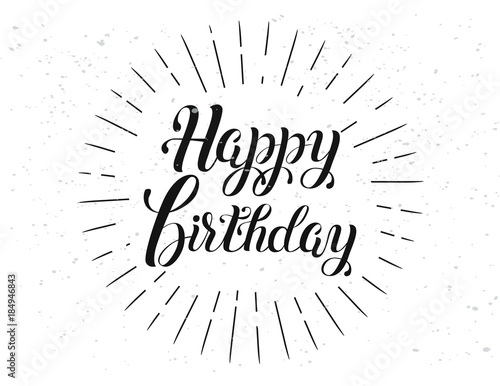 Happy Birthday vector lettering Canvas-taulu
