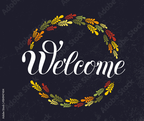Welcome hand lettering Canvas-taulu