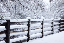 Fence Winter Snow