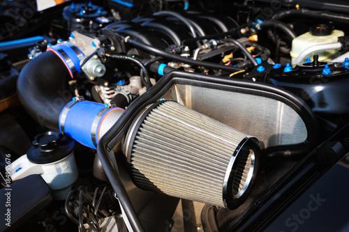Close up of sport car air filter. Wallpaper Mural