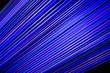 Leinwanddruck Bild - Closeup of a blue laser light