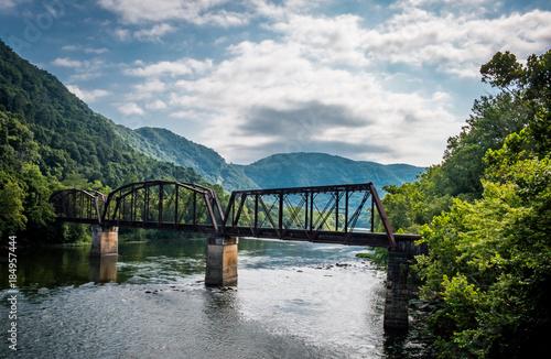 Vászonkép  West Virginia Rail Road Bridge