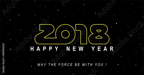 2018: May the force and happiness be with you ! Canvas Print