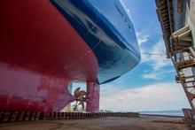 Vessel On Dock Stern Part
