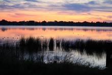Morning Sunrise Over Jessie Lake, Bonnyville Alberta