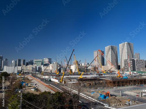Foto op Plexiglas 晴海埠頭の工事現場