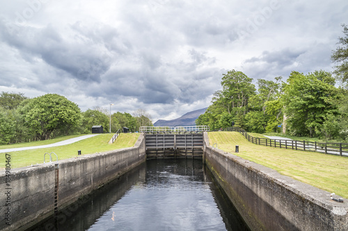 Fotografie, Obraz  Caledonian canal locks at Corpach Fort Filliam Highlands