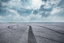 International Circuit Asphalt Road And Blue Sky Nature Landscape